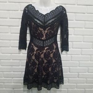 Free People Black Lace Dress Small